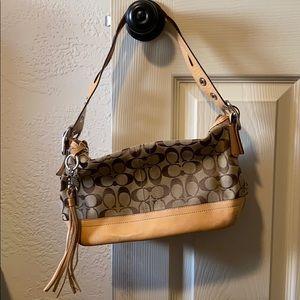 Coach monogram shoulder purse